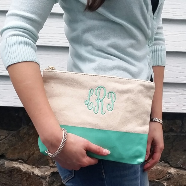 Gianna Monogrammed Clutch from Prep Obsessed